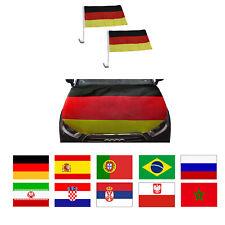 """Sonia Originelli Fan-Paket-10 """"Auto"""" WM Länder Fußball Flaggen Motorhauben Ü ..."""