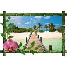 Sticker Bambou déco pont sur l'eau 981