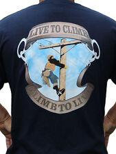 Live to Climb Lineman T Shirt