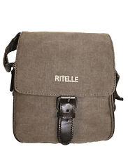 Sac bandoulière ou ceinture en toile garni cuir réf 1067 (gris, marron ou kaki)