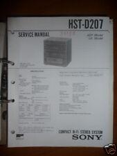 Service-Manual Sony HST-D207 HiFi-System,ORIGINAL