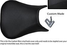 black stitch 99-02 CUSTOM FITS YAMAHA 600 YZF R6 CARBON FIBER VINYL SEAT COVER