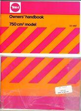 BSA 750, Rocket 3, A75, A75R, 1971-72 OEM Owners' Handbook, Unissued, F/SH