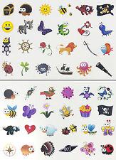 Tattoo Set 48 oder 96 Kindertattoos Tattoo verschiedene Motive Kinder Spielen