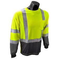 Radians ST21B-3PGS Type R, Class 2, Long Sleeve Shirt...Hi Vis ANSI