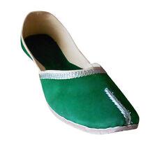Women Shoes Traditional Handmade Leather Green Ballerinas Flat Jutties US 9.5-12