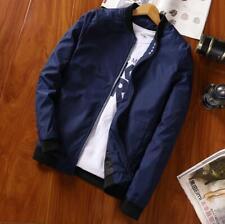 New Men's Zipper Jacket Collar Coat Overcoat Warm Casual Outwear Black Coats