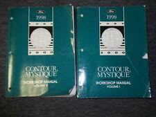 1998 FORD CONTOUR & MERCURY MYSTIQUE Repair Shop Service Manual SET 2 VOLUME
