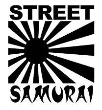Street Samurai Vinyl Sticker Decal JDM Japan Flag Drift - Choose Size & Color