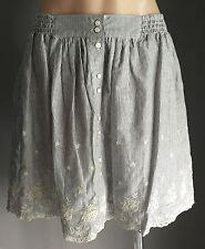 NWOT Black & White CECI Stripe & Floral Elasticised Waist Full Skirt Size M & L