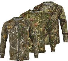Para Hombre Selva Estampado Camuflaje Combate Del Ejército De Manga Larga T Shirt Pesca Caza s-5xl