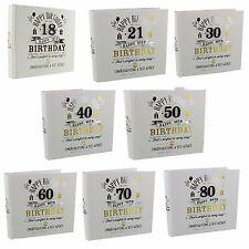 "18th, - 80th  Birthday Gift  Photo  Album for Men - Holds 80 photos (6"" x 4"")"