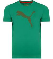 Men's New Puma NightCat Top T-Shirt - Gym Fitness Jogging Running Training Green