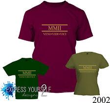 ROMAN NUMERALS 2002 - 18th Birthday T-Shirt (2020), Gift, Premium Quality