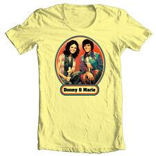 Donny & Marie T-shirt Osmond 70's retro pop culture cotton 80's graphic tee