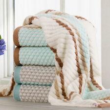 Doppeltes verdickendes gestreift Baumwolle Handtuch Saunatuch Bade Towel 34*75cm