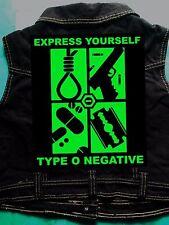Type O Negative Brothers In Blood Girls Denim CutOff Waistcoat Casket Crew 8-18