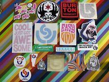 vtg 1990s 2000s Burton snowboards sticker - Phillips Open Uninc Red +