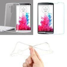 Custodia Cover Gomma Gel Tpu Soft Trasparente per LG X Power 2 + Pellicola Vetro