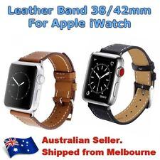Luxury Genuine BK/BW Leather Arm Band Strap For Apple Watch Series 3/2/1 AU