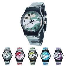 Moda Informal Reloj Infantil Niñas Niños Camuflaje Reloj De Cuarzo Reloj Pulsera