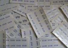 40 Mm Circular de precios, precios al por menor, Etiquetas Impresión Negro Sobre Blanco calcomanías