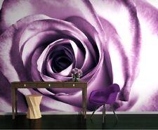 Papier peint mural violet fleur rose Photo décoration géant floral AFFICHE