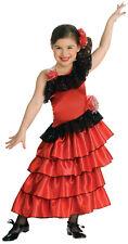 NEW Spanish Princess Flamenco Dancer Child Girls Costume Fancy Dress