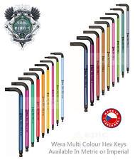 Wera hexagonales Plus Multi Color punta en Bola Llave Allen métrico o imperial