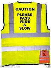 Please Pass Wide & Slow Horse Riding Hi-Vis Safety Vest En471 S - 4Xl Reflective