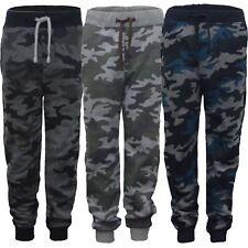 Kids Camo Print Tracksuit Bottoms Girls Boys Jogging Trousers Sweatpants 3-14 Y