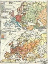 L'Europa lingue popoli demografia cartina del 1909