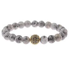 4 Colors Zircon Balls Charm Bracelets Landscape Stone Bracelets For Men Women