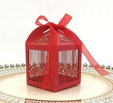 100pieces Laser Cut Rose Flower Hollow Candy Boxes Wedding Favor