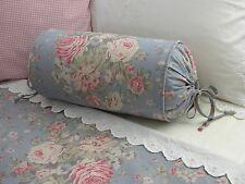 NEW Custom Ralph Lauren Shelter Island Blue Floral Neckroll Pillow Neck Roll