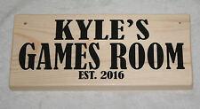 Personalised Any Name Gamer Sign Plaque Games Room Est. 2018 Garage Workshop