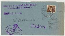 STORIA POSTALE DOCUMENTO MEGLIADINO SAN FIDENZIO (PADOVA) 17/11/1945