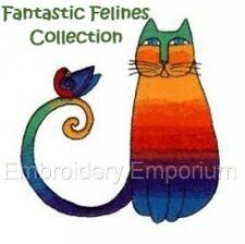 Fantástico felinos-diseños de bordado de la máquina en CD