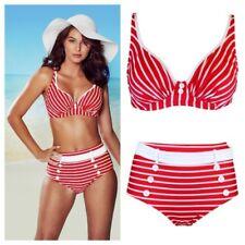 Pour Moi Starboard U/W Bikini Top or Control Bikini Brief Red/White