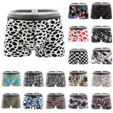 Fashion Men Underwears Boxers Shorts Trunks Underpants Bulge Pouch Cartoon Pants