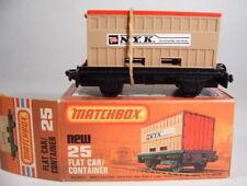 Matchbox SF nº 25c Flat Car & contenedores como nuevo box