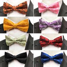 Men's Bowties Adjustable 12*6CM Paisley Floral Bow Tie For Men Suit Butterfly