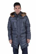 Versace Collection Men's Gray Down Parka Coat With Detachable Collar XS S M L XL