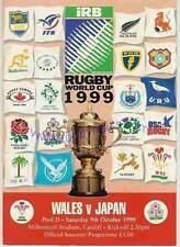 Gales v Japón 1999 Rugby World Cup Programa Con Coa