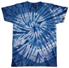 Tie Dye T Shirt Tye Die Festival Hipster Indie Retro Unisex Top Spider Blue 8