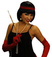 Mesdames court Bob Perruque noire Charleston 20s 30s tambour Girl Gatsby robe fantaisie