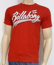 Billabong Pennant Tee Mens Red 100% Cotton T-Shirt New NWT