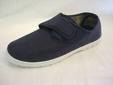 Lona de algodón para hombre Luz Velcro Talla 6 7 8 9 10 11 12 Touch amplia Cubierta Zapatos Náuticos