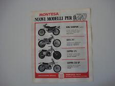 advertising Pubblicità 1970 MONTESA KING SCORPION/COTA 247/CAPPRA 175/250 GP