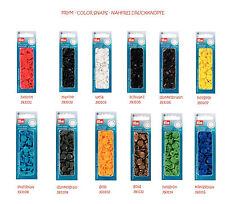 """Prym sin costuras Botones de presión"""" Color Broches Redondo 12,4mm - TODOS LOS"""